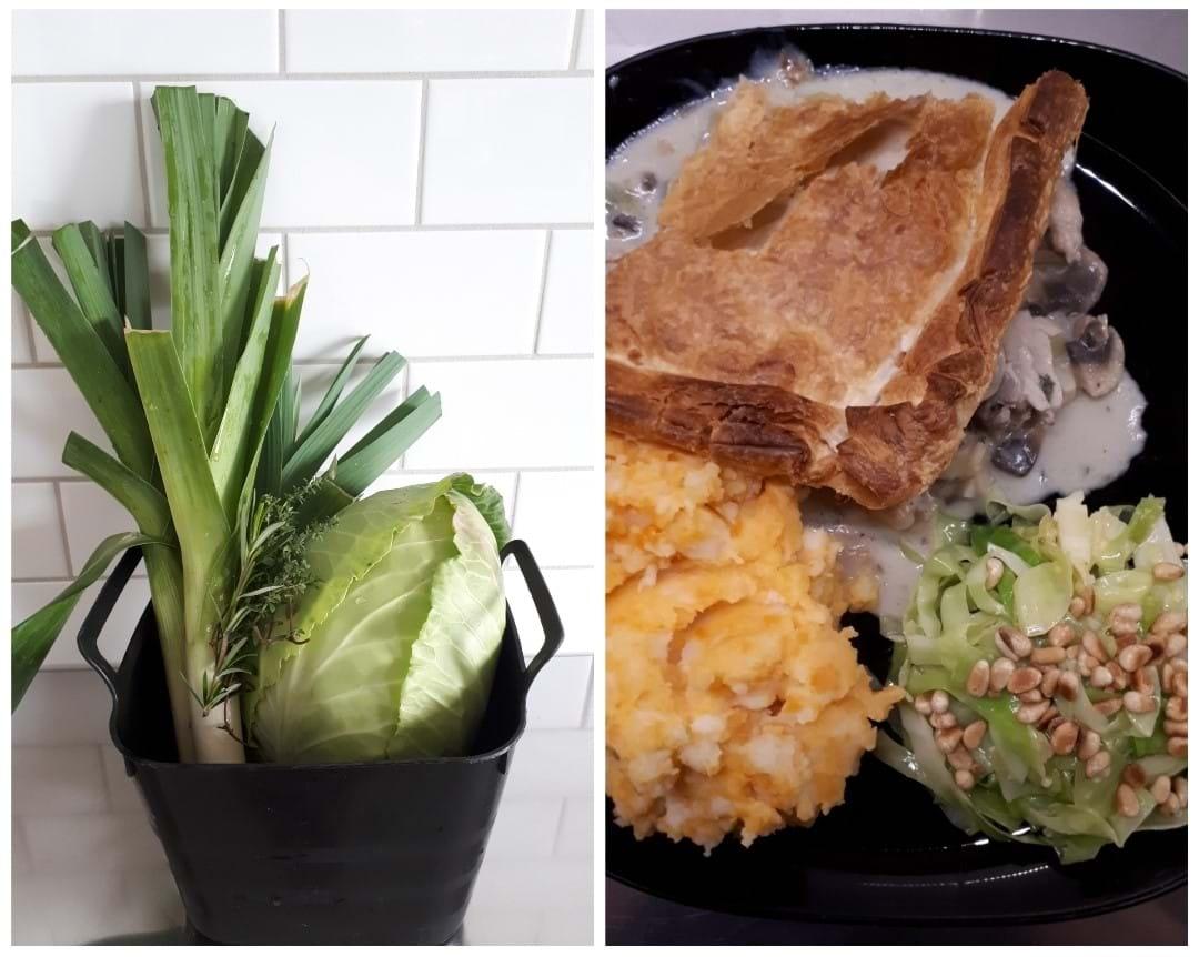 Leeks + cabbage = dinner