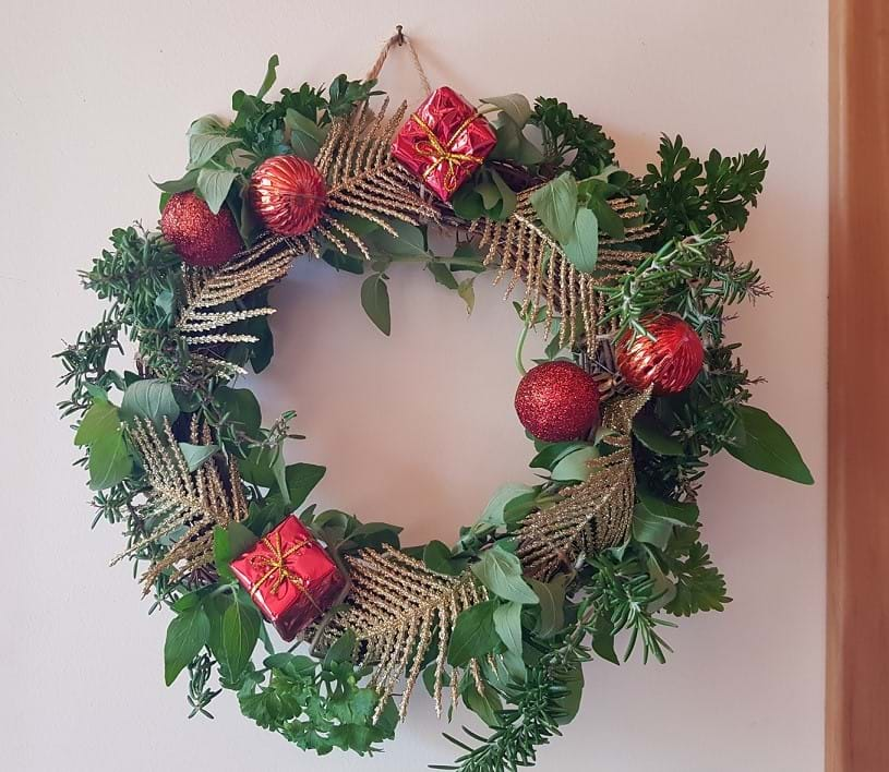Herb wreath (I keep it in the kitchen)