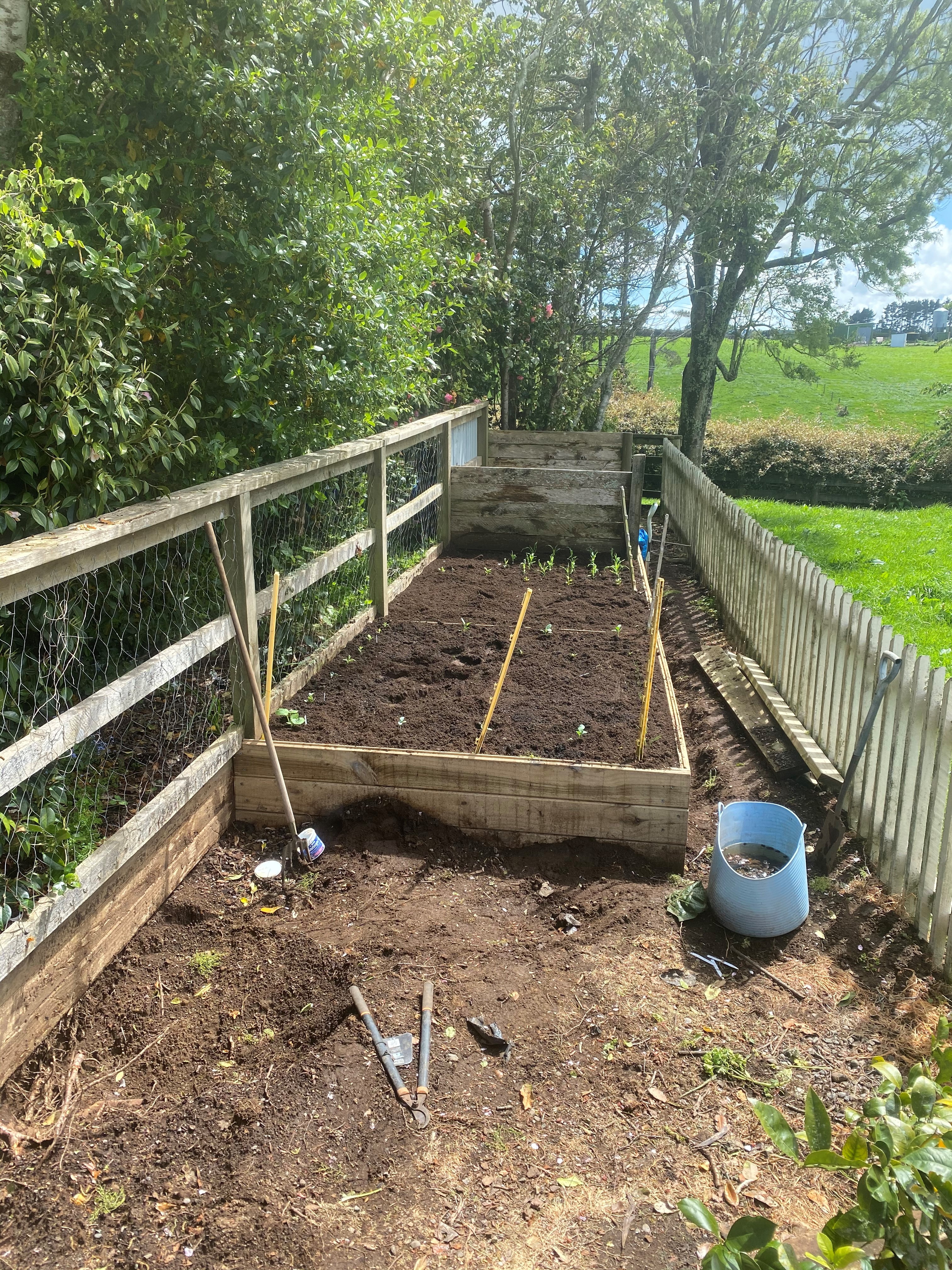 Garden bed nearly updated