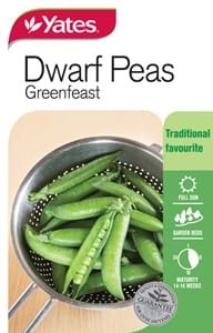 45539 Yates Vege Peas Greenfeast Packet Seed